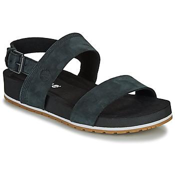 Chaussures Femme Sandales et Nu-pieds Timberland MALIBU WAVES 2BAND SANDAL Noir