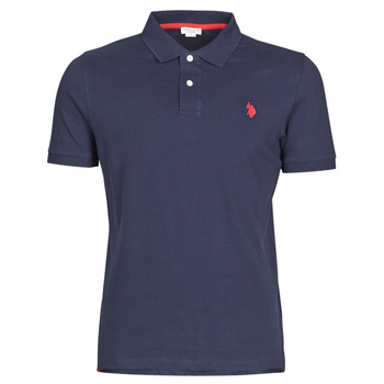 Vêtements Homme Polos manches courtes U.S Polo Assn. INSTITUTIONAL POLO Marine