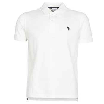 Vêtements Homme Polos manches courtes U.S Polo Assn. INSTITUTIONAL POLO Blanc