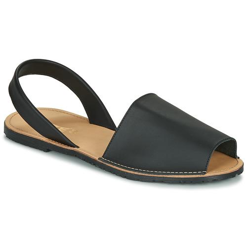 Chaussures Femme Sandales et Nu-pieds So Size LOJA noir
