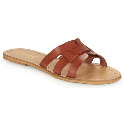 Chaussures Femme Mules So Size MELINDA camel