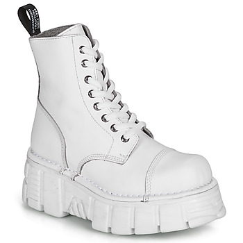 Chaussures Boots New Rock NALEYA Blanc