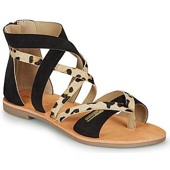 Chaussures Femme Sandales et Nu-pieds Les Tropéziennes par M Belarbi POPS Noir / Léopard