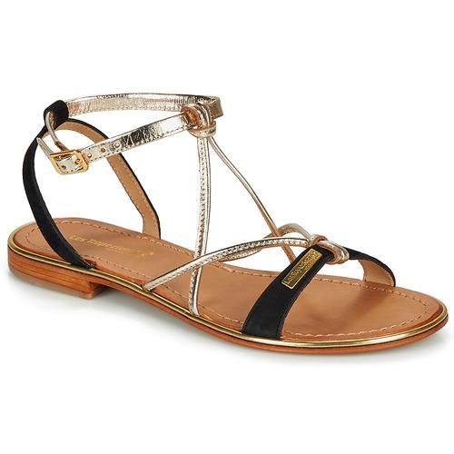 Chaussures Femme Sandales et Nu-pieds Les Tropéziennes par M Belarbi HIRONBUC Noir / Or