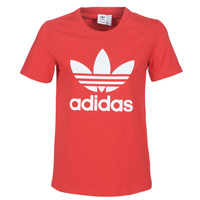 Vêtements Femme T-shirts manches courtes adidas Originals TREFOIL TEE Rouge luxuriant