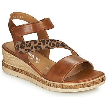 Chaussures Femme Sandales et Nu-pieds Remonte Dorndorf HERNENDEZ Cognac / Léopard