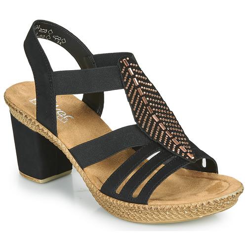 Chaussures Femme Sandales et Nu-pieds Rieker ROOT Noir