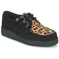 Chaussures Derbies TUK LOW FLEX ROUND TOE CREEPER Noir / Leopard