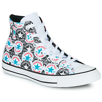 Chaussures Femme Baskets montantes Converse Chuck Taylor All Star Logo Play Blanc / Noir / Multi