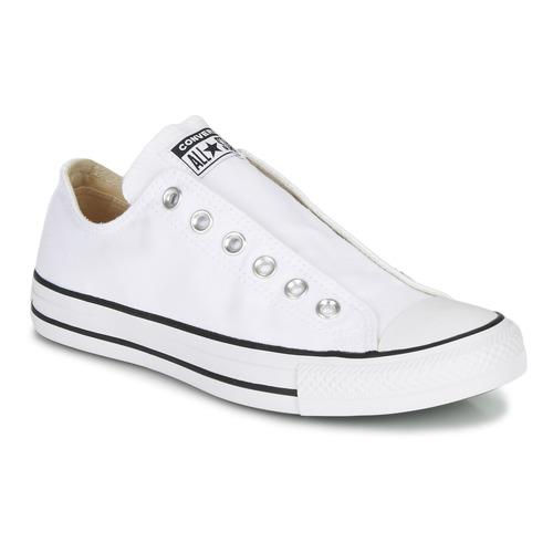 Chaussures Femme Slip ons Converse CHUCK TAYLOR ALL STAR SLIP CORE BASICS Blanc