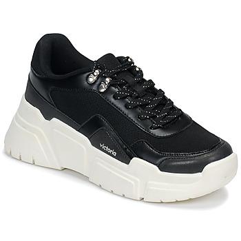 Chaussures Femme Baskets basses Victoria TOTEM Noir / Blanc