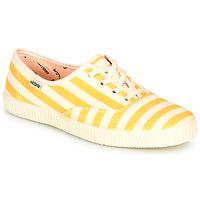 Chaussures Femme Baskets basses Victoria NUEVO RAYAS Jaune / Blanc
