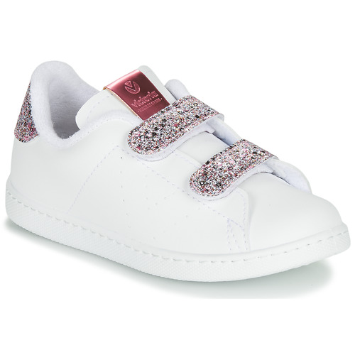 Chaussures Fille Baskets basses Victoria TENIS VELCRO G Blanc