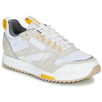 Chaussures Femme Baskets basses Reebok Classic CL LEATHER RIPPLE T Beige / blanc