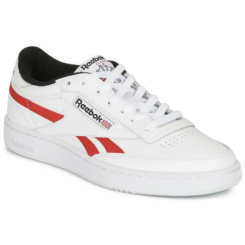 Chaussures Baskets basses Reebok Classic CLUB C REVENGE MU Blanc / rouge