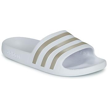 Chaussures Femme Claquettes adidas Performance ADILETTE AQUA Blanc
