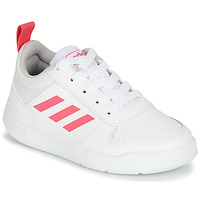 Chaussures Fille Baskets basses adidas Performance TENSAUR K Blanc / rose