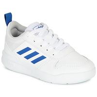 Chaussures Garçon Baskets basses adidas Performance TENSAUR K Blanc / bleu
