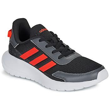 Chaussures Garçon Baskets basses adidas Performance TENSAUR RUN K Noir / rouge