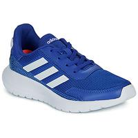 Chaussures Garçon Baskets basses adidas Performance TENSAUR RUN K Bleu / blanc