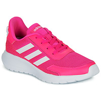 Chaussures Fille Baskets basses adidas Performance TENSAUR RUN K Rose / blanc