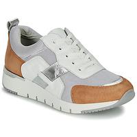Chaussures Femme Baskets basses Caprice  Blanc / Camel