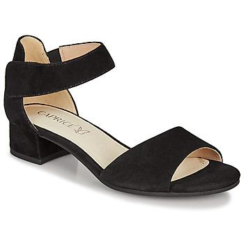 Chaussures Femme Sandales et Nu-pieds Caprice  Noir