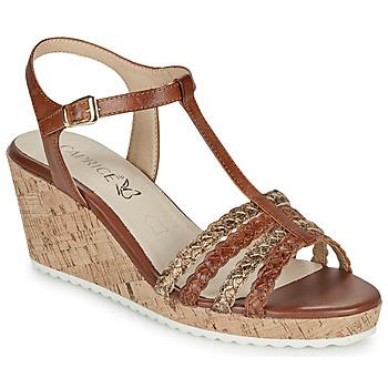 Chaussures Femme Sandales et Nu-pieds Caprice POUDALLE Cognac