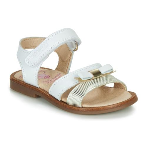 Chaussures Fille Sandales et Nu-pieds Pablosky LOLLA Blanc / Doré