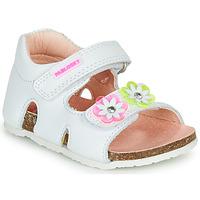 Chaussures Fille Sandales et Nu-pieds Pablosky  Blanc