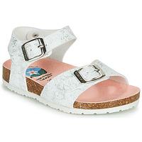 Chaussures Fille Sandales et Nu-pieds Pablosky SATTO Blanc / Argenté