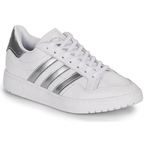 Chaussures Baskets basses adidas Originals MODERN 80 EUR COURT W Blanc / argent