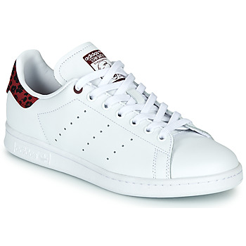 Chaussures Femme Baskets basses adidas Originals STAN SMITH W Blanc / Bordeaux