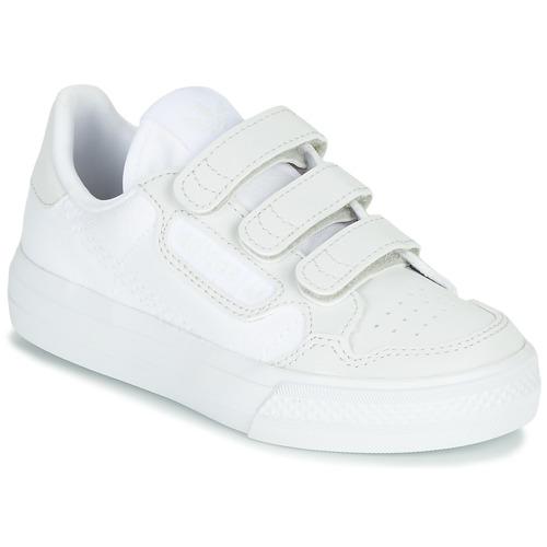 Chaussures Enfant Baskets basses adidas Originals CONTINENTAL VULC CF C Blanc / beige
