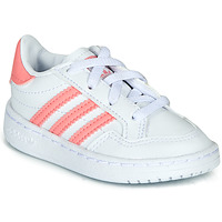 Chaussures Fille Baskets basses adidas Originals NOVICE EL I Blanc / Rose