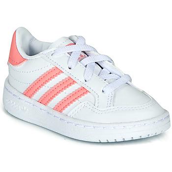 Chaussures Fille Baskets basses adidas Originals NOVICE EL I Blanc / Rose