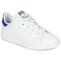 Chaussures Enfant Baskets basses adidas Originals STAN SMITH C Blanc / bleu