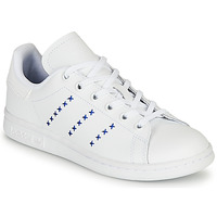 Chaussures Enfant Baskets basses adidas Originals STAN SMITH J Blanc / Bleu