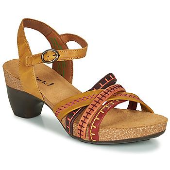 Chaussures Femme Sandales et Nu-pieds Think TRAUDI Jaune / Rouge
