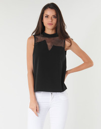 Vêtements Femme Tops / Blouses Guess SL MAYA TOP Noir