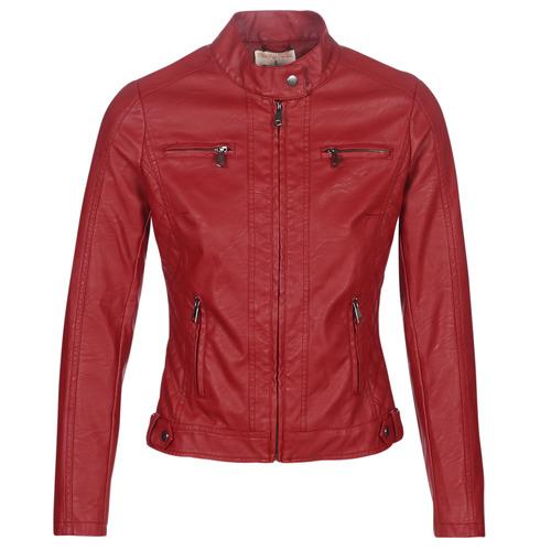 Vêtements Femme Vestes en cuir / synthétiques Moony Mood MARDIA Rouge