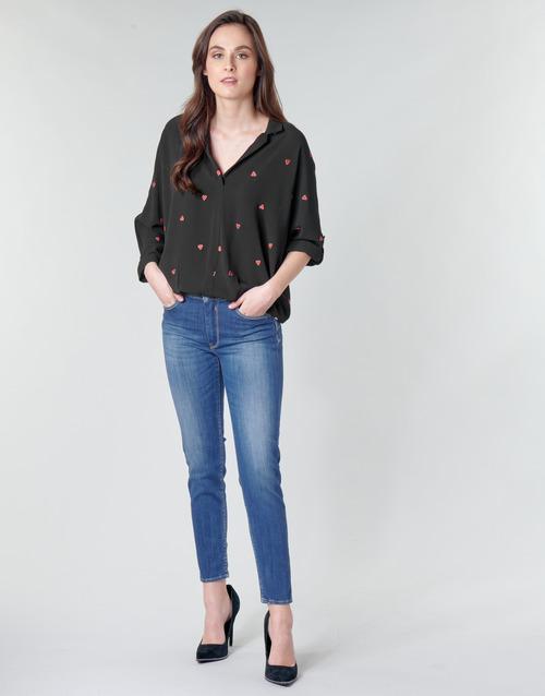 Le Temps des Cerises PULP SLIM TAILLE HAUTE 7/8 Bleu - Chaussure pas cher avec- Vêtements Jeans slim Femme 9999 FGPvq754