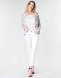 Vêtements Femme Jeans skinny Le Temps des Cerises KIEV SKINY7/8 Blanc