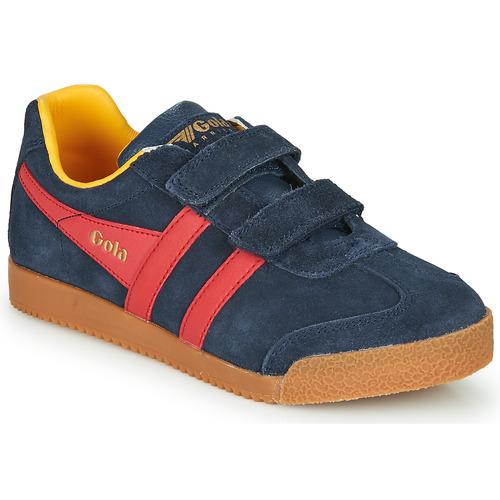 Chaussures Enfant Baskets basses Gola HARRIER VELCRO Bleu / Rouge
