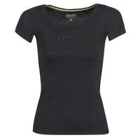 Vêtements Femme T-shirts manches courtes Esprit T-SHIRTS LOGO Noir