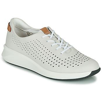 Chaussures Femme Baskets basses Clarks UN RIO TIE Blanc