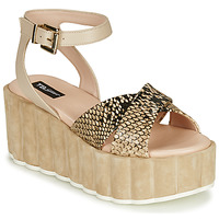 Chaussures Femme Sandales et Nu-pieds Tosca Blu MOOREA Beige / Python