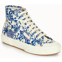 Chaussures Femme Baskets montantes Superga 2295-COTFANW Beige / Bleu