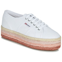 Chaussures Femme Baskets basses Superga 2790-COTCOLOROPEW Blanc / Rose