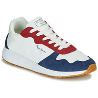 Chaussures Femme Baskets basses Pepe jeans KOKO ESSE Blanc / Bleu / Rouge